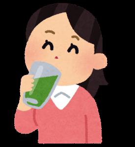 青汁を飲む人