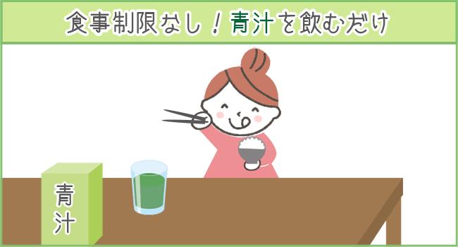 青汁ダイエットなら食事制限なしで、青汁を飲むだけ