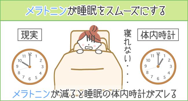 メラトニンが睡眠をスムーズにする