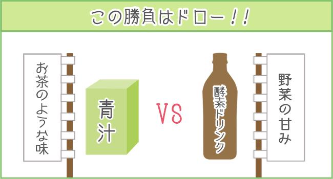 青汁と酵素ドリンクの飲みやすさは同じくらい