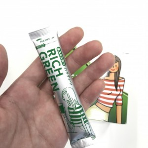 リッチグリーンの粉末スティックのデザインの説明