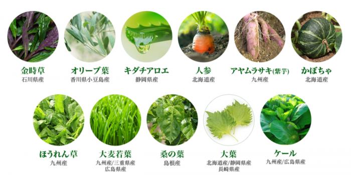 美-菜に配合されている野菜の写真