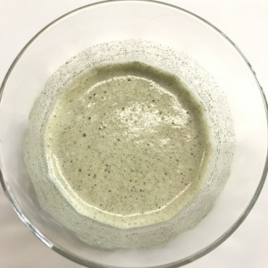 ユーグレナの緑汁を牛乳割りにしたところ