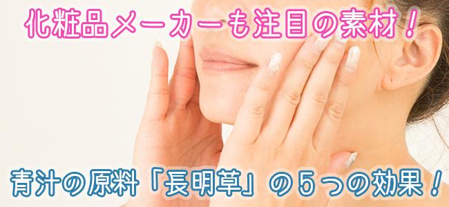 化粧品メーカーも注目の素材!青汁の原料 長命草の5つの効果!ファーストビュー