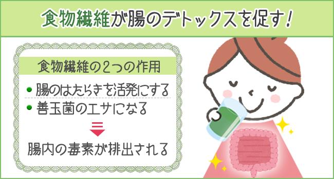 食物繊維が腸のデトックスを促す
