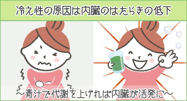 冷え性の原因は内臓のはたらきの低下