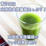 青汁にたっぷり含まれる水溶性食物繊維の4つの効果を徹底解説。