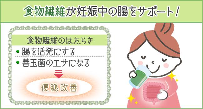 食物繊維が妊娠中の腸をサポート!