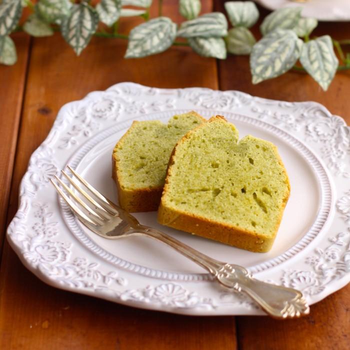 青汁とクリームチーズのパウンドケーキ【青汁ちゃん限定レシピ】のイメージ写真