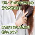 青汁で薄毛予防!発毛や育毛が期待できる成分が青汁にはある。