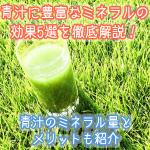 青汁に豊富なミネラルの効果5選!青汁に含まれるミネラル量はどれほど?