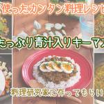 青汁を使ったカンタン料理レシピ「野菜たっぷり青汁入りキーマカレー」