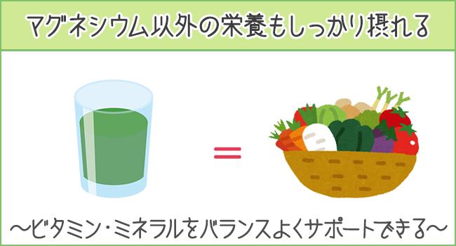 マグネシウム以外の栄養もしっかり摂れる