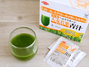 ヘルスマネージ大麦若葉青汁キトサンのドリンク
