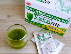 ヘルスマネージ大麦若葉青汁難消化性デキストリンのドリンク