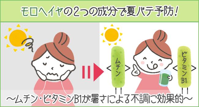 モロヘイヤの2つの成分で夏バテ予防