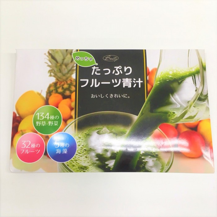 めっちゃたっぷりフルーツ青汁のパッケージ