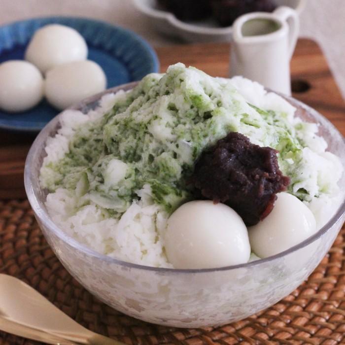 青汁入り抹茶ぜんざい風かき氷【青汁ちゃん限定レシピ】のイメージ写真