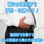 青汁が脂肪肝を予防・改善する!脂肪肝を改善する4つの効果からの飲み方まで紹介